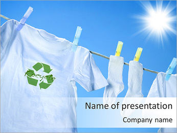 Recycling Sign PowerPoint Template
