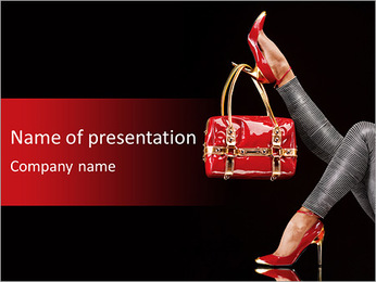 Trendy Shoes And Bag PowerPoint Template