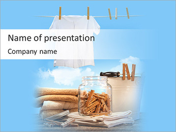 Drying T-Shirts PowerPoint Template