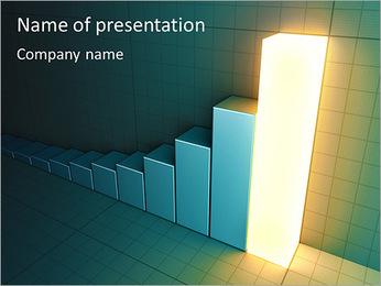 Light Effect Graph PowerPoint Template