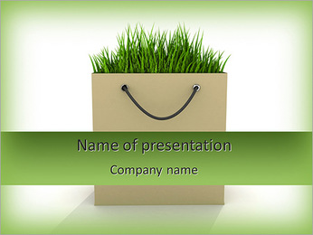 Eco Paper Bag PowerPoint Template