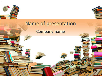 Book Stock PowerPoint Template