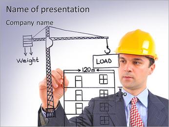 建設業 PowerPointプレゼンテーションのテンプレート