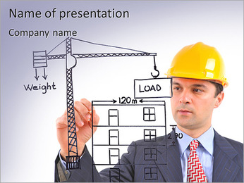 Stavební firmy PowerPoint šablony