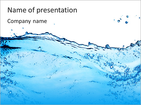 Pure Blue Water Powerpoint Template & Backgrounds Id 0000006047