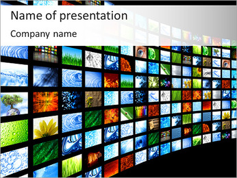 Board With Images PowerPoint Template