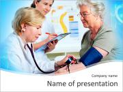 Eldery Woman Visit Doctor PowerPoint Templates