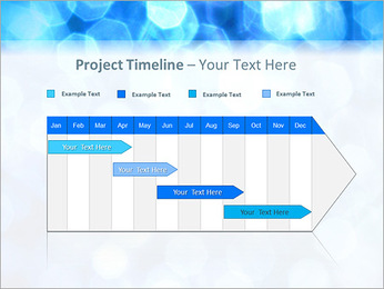 Bleu service Modèles des présentations  PowerPoint - Diapositives 5