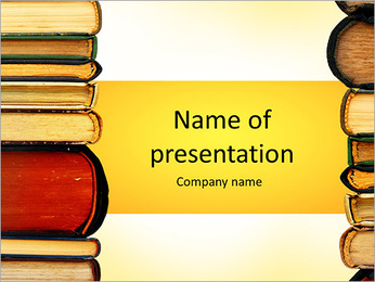 Books Collection PowerPoint Template