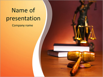 Court Case PowerPoint Template