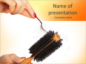 Clean Hairbrush PowerPoint Template