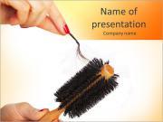 Clean Hairbrush PowerPoint Templates