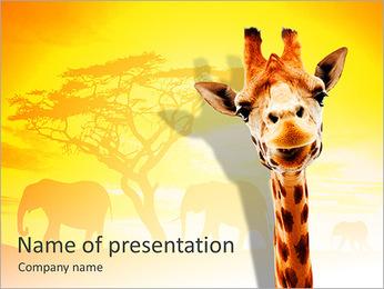 Giraffe PowerPoint Template