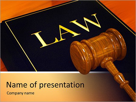 Break Law PowerPoint Template