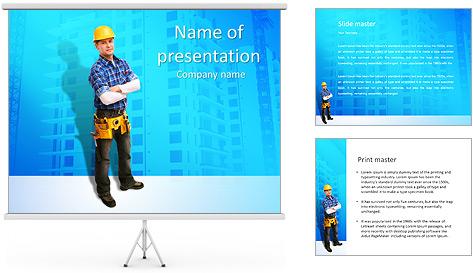 Construção Modelos de apresentações PowerPoint