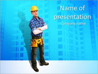 Construção Modelos de apresentações PowerPoint - Slide 1