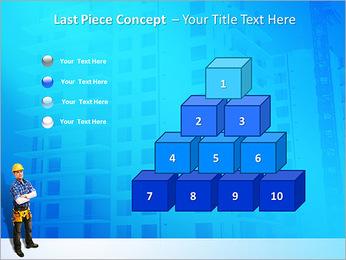 Construção Modelos de apresentações PowerPoint - Slide 11