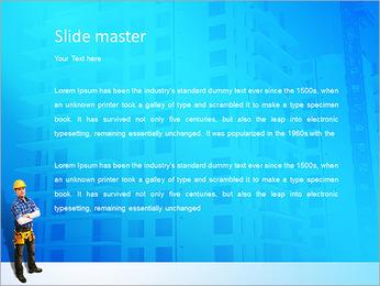 Construção Modelos de apresentações PowerPoint - Slide 2