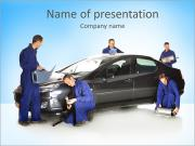 Fixing Car PowerPoint Template