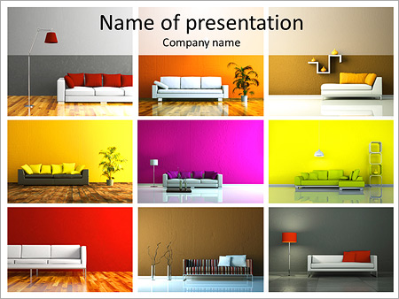 Furniture catalogue powerpoint template backgrounds id for Interior design office ppt