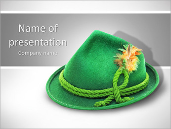 Green Hat PowerPoint Template