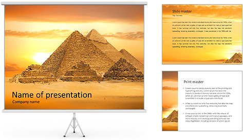 Egyptian Pyramids PowerPoint Template