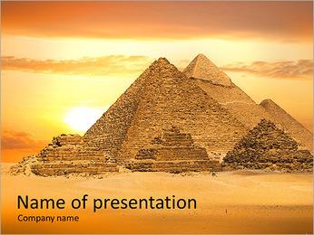 Egyptian Pyramids PowerPoint Template - Slide 1