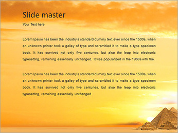 Egyptian Pyramids PowerPoint Template - Slide 2
