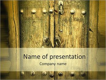 Ancient Door PowerPoint Template