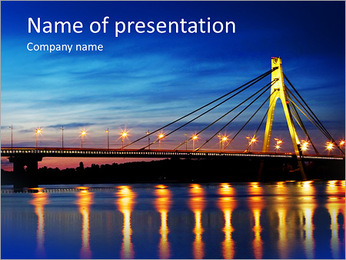 Huge Bridge PowerPoint presentationsmallar