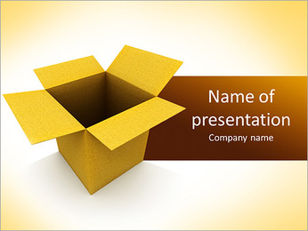Courier Box PowerPoint Template