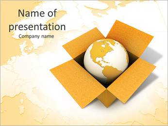 International Delivery Service PowerPoint Template