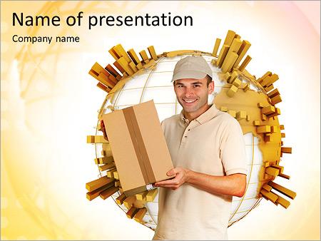 高速配信 PowerPointプレゼンテーションのテンプレート