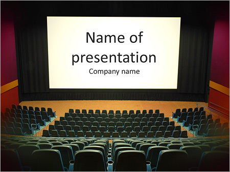 Cinema PowerPoint Template Backgrounds Google Slides