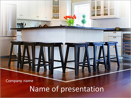 Kitchen interior powerpoint template backgrounds id 0000006168 kitchen interior powerpoint template toneelgroepblik Images