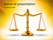 Golden Scales PowerPoint Templates
