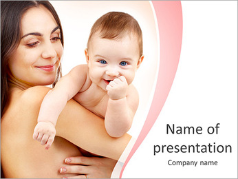 Mother Holds Baby PowerPoint Template