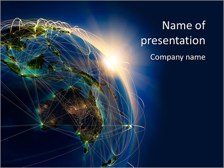 earth planet powerpoint template & backgrounds id 0000006196, Modern powerpoint