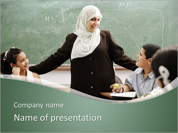Muslim Teacher PowerPoint Template