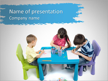Asilo I pattern delle presentazioni del PowerPoint