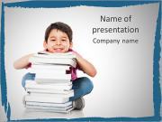 Cheerful Schoolboy PowerPoint Templates