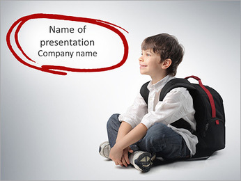 Dreaming About School PowerPoint Template
