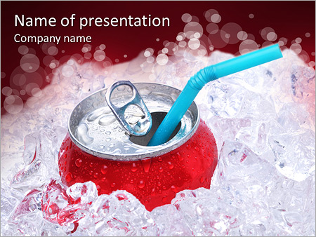 refreshing coke powerpoint template backgrounds google slides