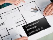 Mimar Taslak PowerPoint sunum şablonları