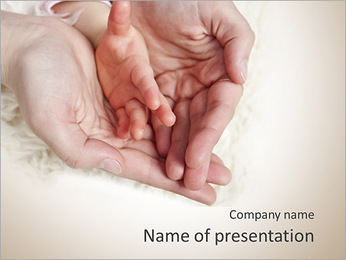 Touching Baby's Photo PowerPoint Template