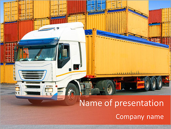 Logistic Truck PowerPoint Template