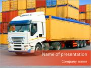 Logistic Truck PowerPoint Templates