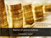 Golden Coins Diagram PowerPoint Templates