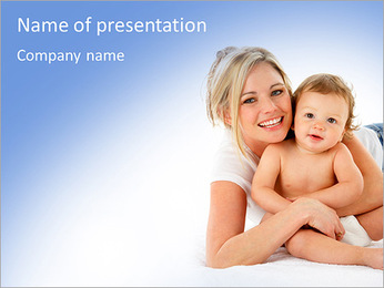 Mother's Baby PowerPoint Template