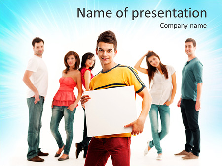 Youth promo powerpoint template backgrounds id 0000006347 youth promo powerpoint templates toneelgroepblik Images